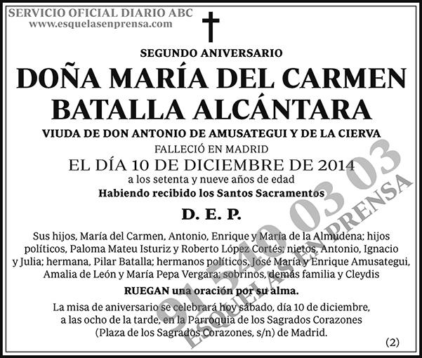María del Carmen Batalla Alcántara